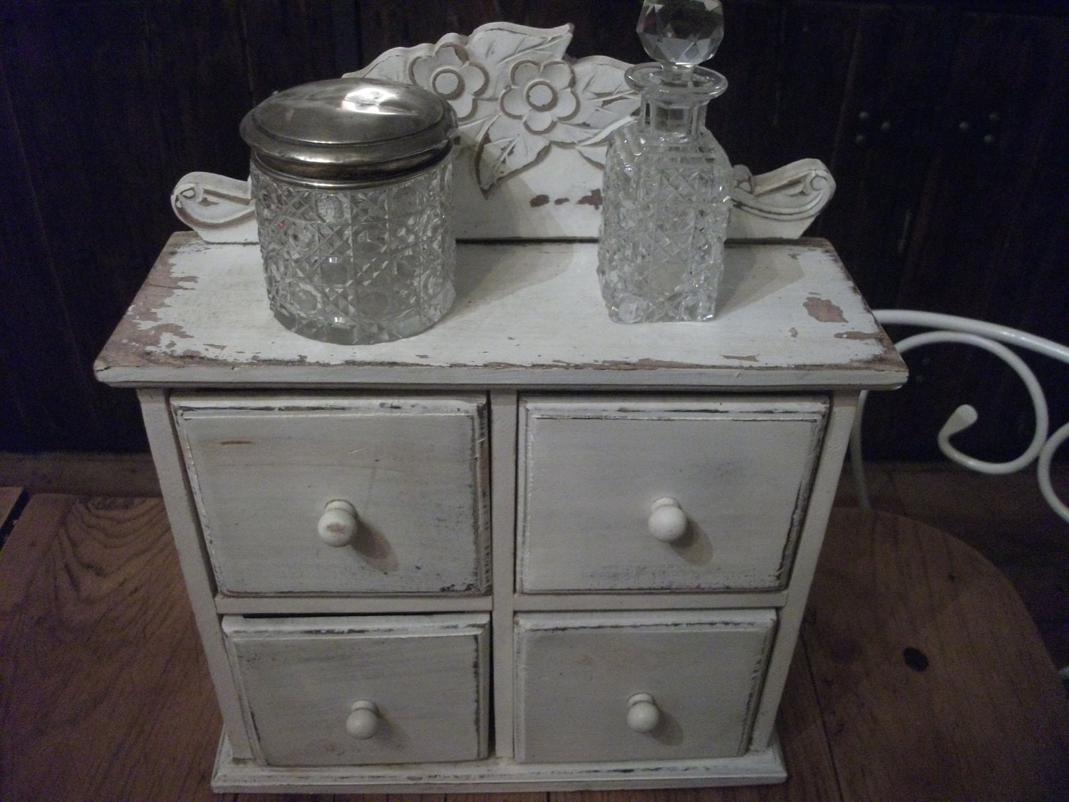 Sale Wooden Vanity Dresser Box Shabby Chic Wall Cupboard Storage Bathroom Kitchen Office