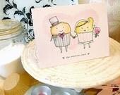 cupcake wedding greeting card
