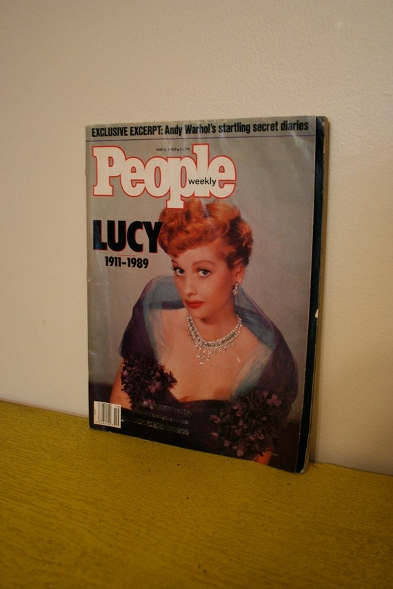 Vintage People Magazine with Lucy on cover Lucille Ball Memorial Death 1989