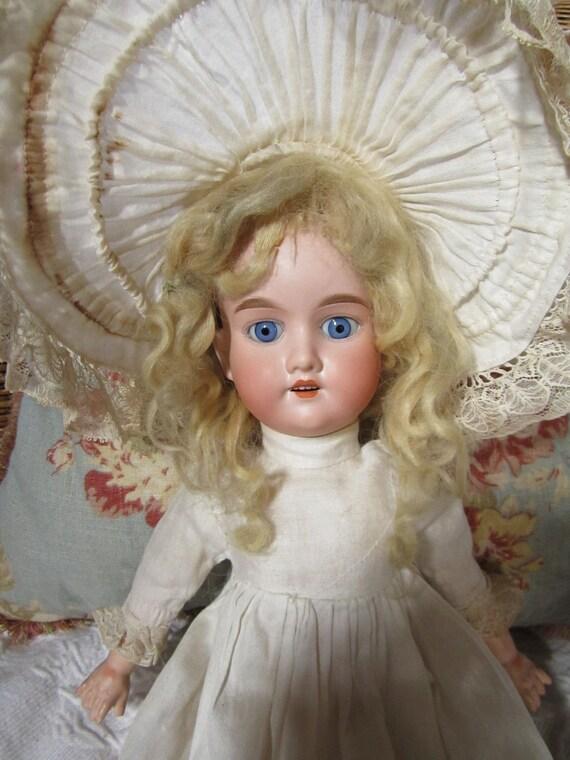 """Antique German 20"""" Armand Marseille Bisque Head Victorian Doll"""