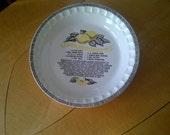 Royal China by Jeanette LEMON MERINGUE recipe Pie Dish Plate