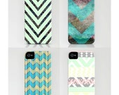 Chevron Patterned Iphone Cases in, Pastel and Gray, Star Scape and Chevron, Geekey Dot and Chevron, Cupcake Ipone 4 & 5
