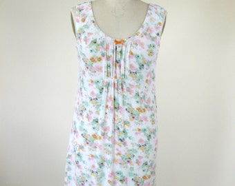 1990s Floral Babydoll Dress Nightie Womens Medium