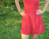 Red Romper with White Polka Dots Be one of a kind this summer