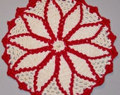 Vintage Hand Crocheted Potholders Lot of 3