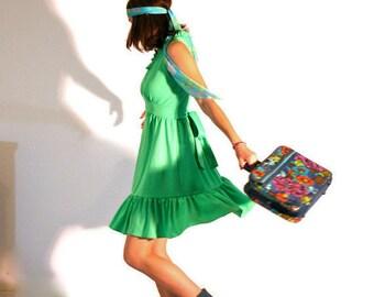 Vintage Halter Dress Kiwi Green