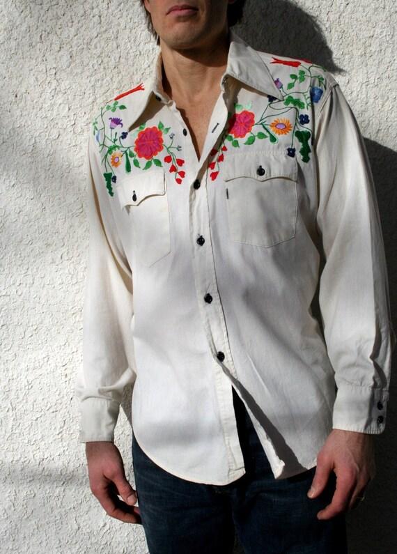 Vintage Levi Strauss Embroidered Cowboy Shirt