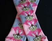 Easter Monkey Leg Warmers in argyle print perfect for babies and girls