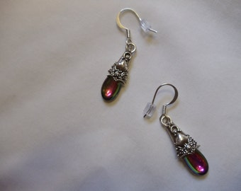 Vitrail Drop Earrings on Silver Ear Wires, Earrings, Vitrail, Drop, Dangle, silver ear wires