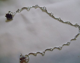 """7 1/2"""" Silver Chain Anklet with Magnetic Clasp, Anklet, Silver Chain, Magnetic"""