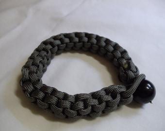 "9"" Square Olive Lanyard Bracelet, bracelet, olive, lanyard, square, paracord"