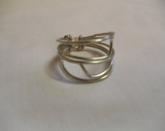 6 1/2 Silver Wire Wrapped Ring