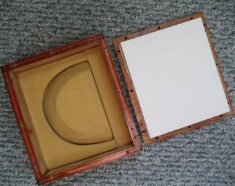 """Wooden Jewelry Safe or Display 8 1/2"""" X 7 1/2"""" X 3"""""""