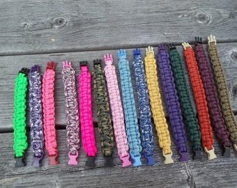 "Survival Bracelets with 3/8"" Side Release Buckle - Various Colors and Sizes, Survival, Bracelet, Buckle"