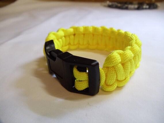 "7 1/2"" Yellow Paracord Bracelet, Bracelet, Paracord, Yellow"