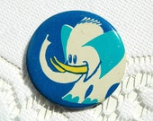 Adorable Vintage Soviet Pin With Elephant