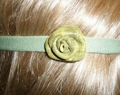 Leather Rose Cotton (Bamboo fibers) Headband