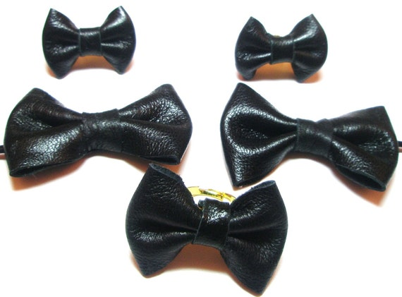 Black Bow  Post  Earrings