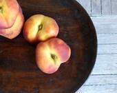 Vintage Warm Chestnut Round Wood Plate