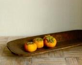 Primitive Oblong Handcarved Platter