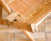 Vintage Bamboo Peasant Stool