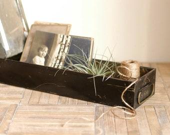 Vintage Metal Safety Deposit Box