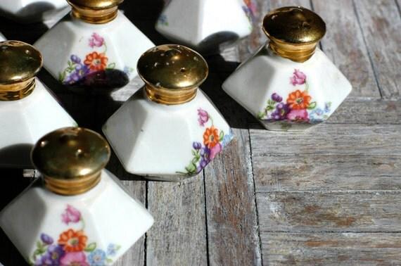 Vintage Porcelain Salt and Pepper Shakers