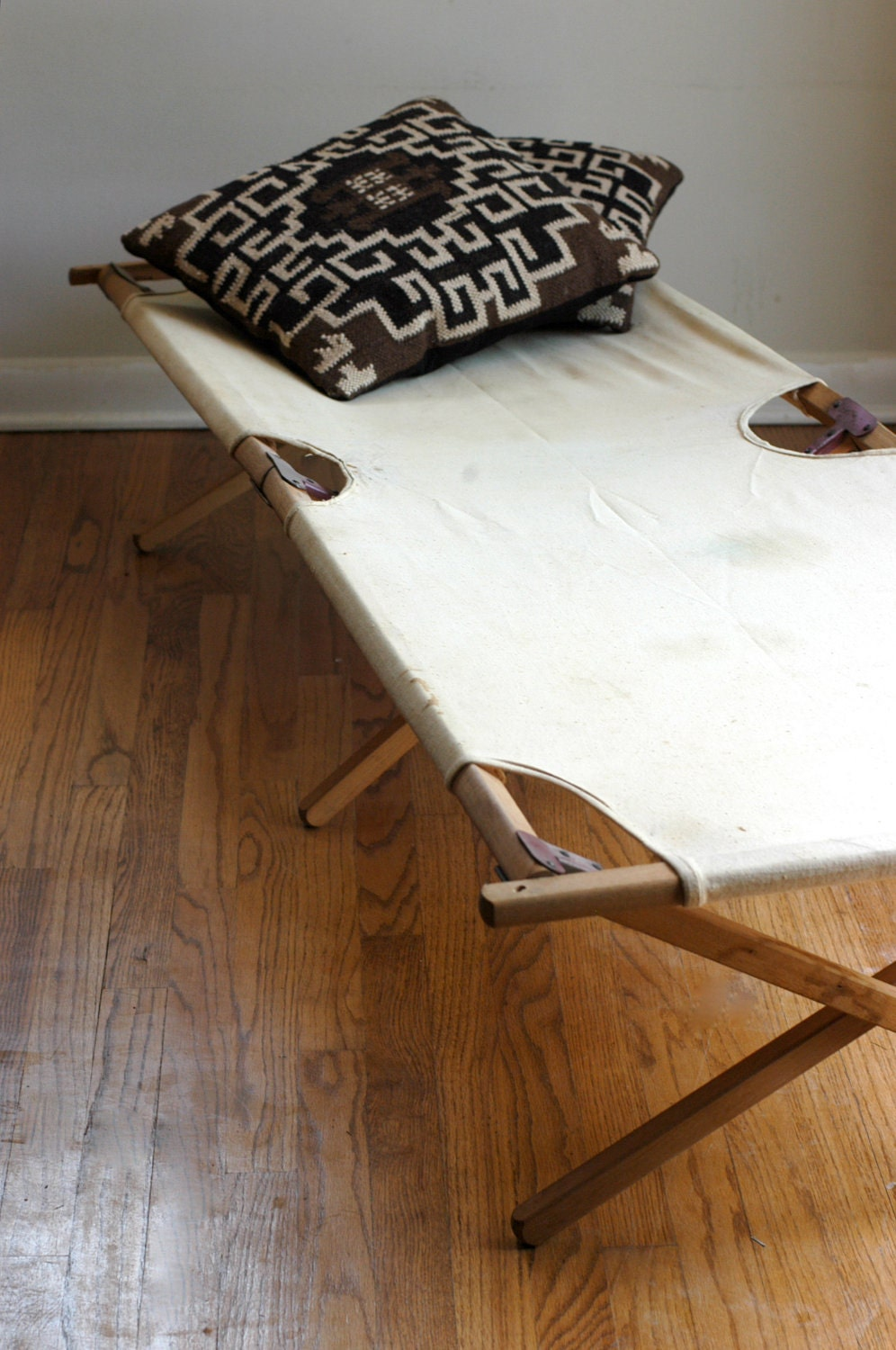 Vintage Wooden Camping Cot by bonnbonn on Etsy