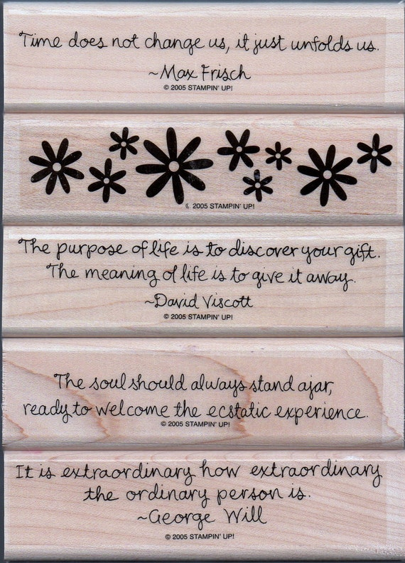 """Stampin Up """"Quotes To Live By"""" stamp set"""