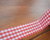 Fabric Tape Red Gingham print 1 BIG roll