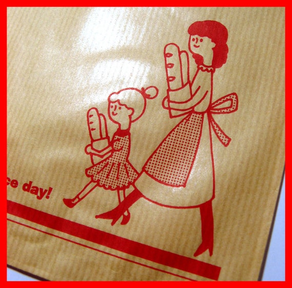Classic Ribbed Kraft Paper Brown Gift Bag Nice Day 10pc