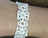 PATTERN for Feminine Spring Celtic Flower Crocheted Bracelet - FREE SHIPPING