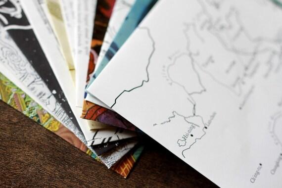 10 Upcycled Vintage Envelopes - Art of China