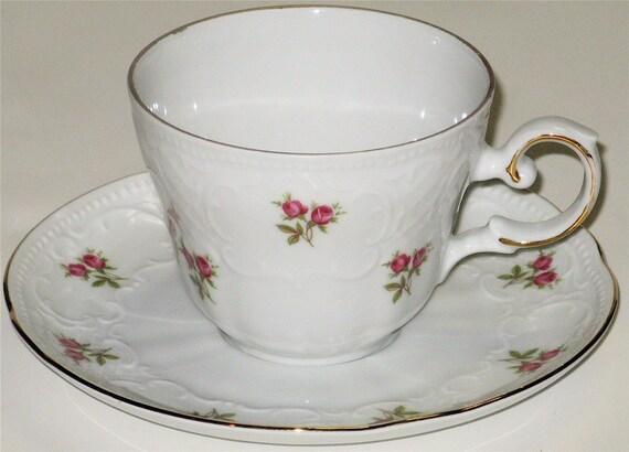 seltmann weiden bavaria rose cup saucer. Black Bedroom Furniture Sets. Home Design Ideas