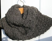 Infinity Scarf - Heather Grey 100% Wool