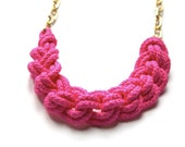 Collier cordage fluo