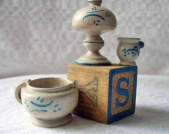 Vintage Handpainted Wooden Miniatures