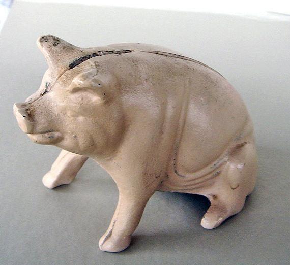 Antique Cast Iron Piggy Bank