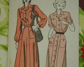 Vintage Pattern 1950's Advance No.4779  Dress Size 12  Uncut