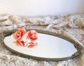 Vintage Vanity Tray - Ornate Roses