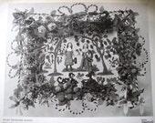 Vintage Beadwork Basket Print