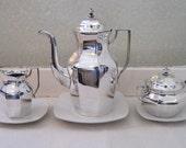 Rare VINTAGE Gust. Eriksson Silver Plate Coffee/Tea Set made in Eskilstuna Sweden ...GENSE...