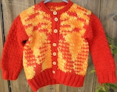 Back to school chunky fall sweater for big brother.