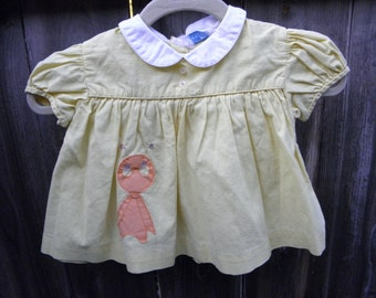 Little bug vintage baby dress, size 3 to 6  months