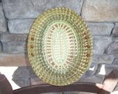 Gullah Sweetgrass OVAL Fanner Basket ( Wonderful Contrast)
