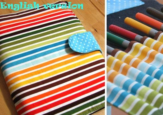 Crayons roll bag  - PDF SEWING TUTORIAL - an English version