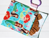 Traveling snack bag in Sea beauties Mermaids      more fabrics in shop  Great for kids