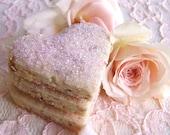 Shabby Chic Cookies - Rose Petal Tea Cookies - 1 Dozen Summer Celebrations Treat