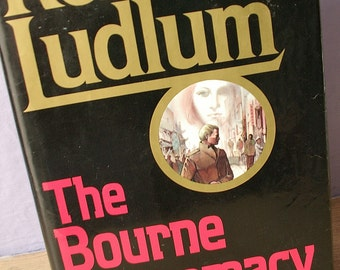 Vintage The Bourne Supremacy book, Robert Ludlum, 1986, 1st edition book, hardcover, 1980's spy fiction