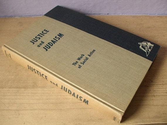 vintage 1950's Jewish book, Justice and Judaism, 1956, hardcover, Judaica